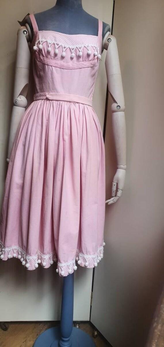 Vintage 1950s denim western dress - image 6