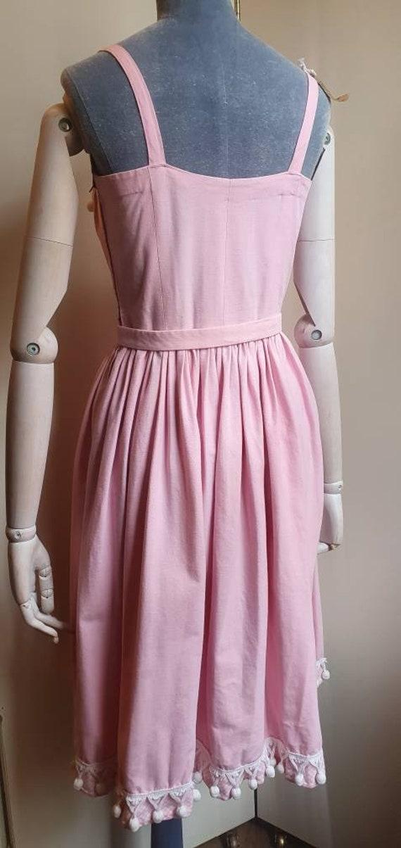 Vintage 1950s denim western dress - image 10
