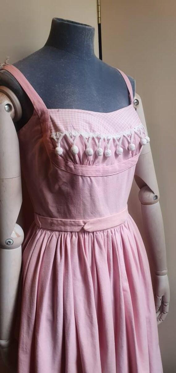 Vintage 1950s denim western dress - image 3