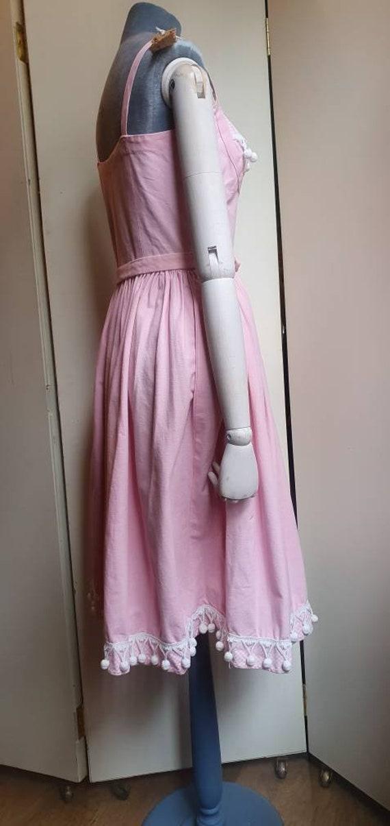 Vintage 1950s denim western dress - image 7