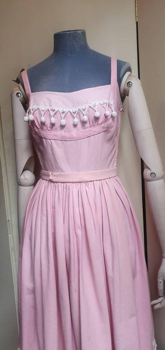 Vintage 1950s denim western dress - image 5