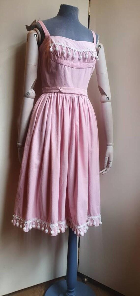 Vintage 1950s denim western dress - image 4