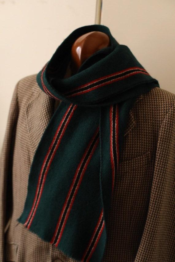 Vintage 1930s 1940s wool scarf