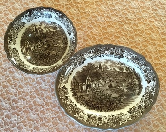 Set of 2 J & G Meakin Serving Plates