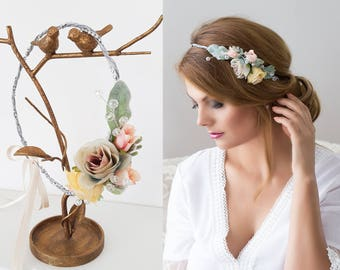 Braut Blumenkranz Haarkranz Schleierkraut Hochzeit Haarband Etsy
