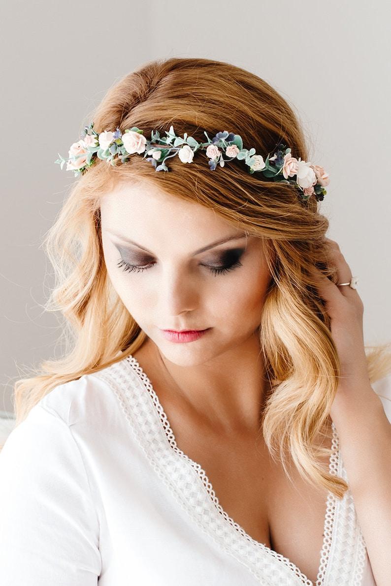 Braut Blumenkranz Hochzeit Haarband Blumen Haarschmuck | Etsy