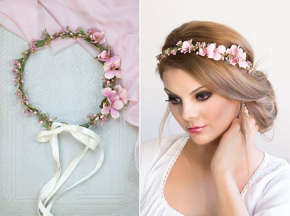 Braut Blumenkranz Hochzeit Haarband Blumen Haarschmuck Etsy