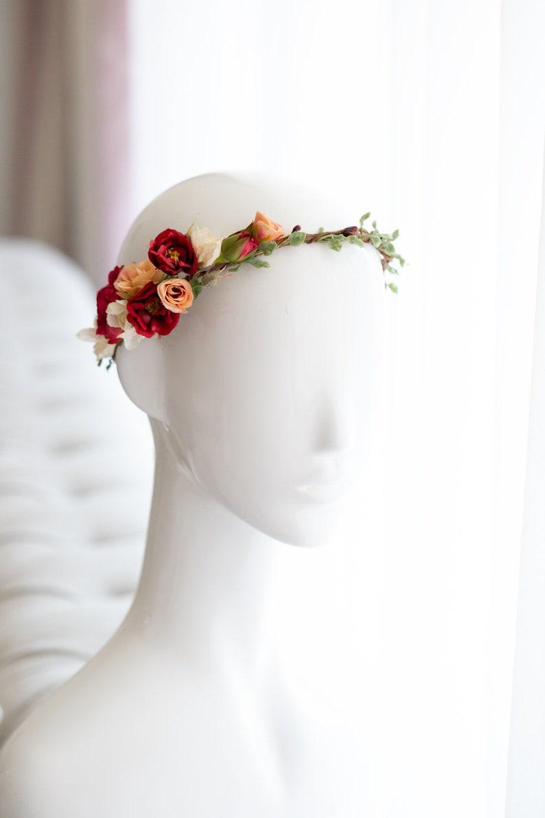 Hair Wreath Flower Crown Bridal flowers Bridal floral headpiece Wedding Tiara Fairy Crown,Festival or Bridal Hair Accessories