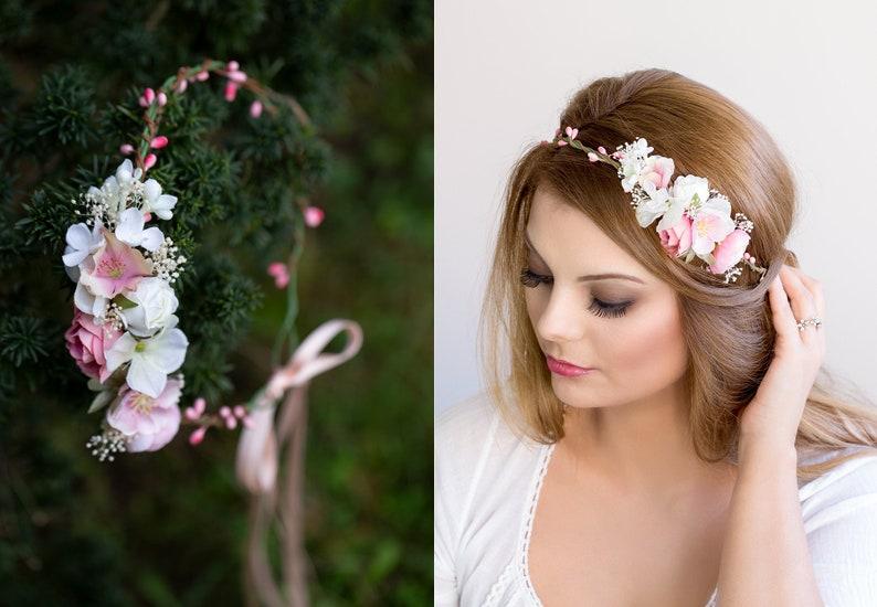 fd846a368f72ef Braut Blumenkranz Hochzeit Haarband Blumen Haarschmuck | Etsy