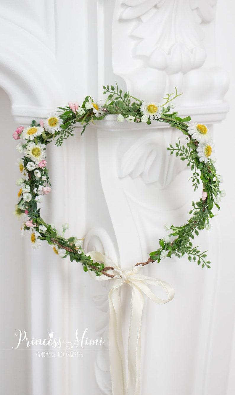 d3eb03698a80bb Blumenkranz Margeriten Haarband Blumen Haarschmuck | Etsy