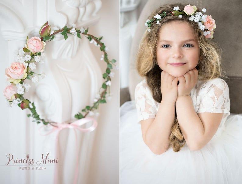 5baec5921d68d3 Braut Blumenkranz Haarkranz Hochzeit Haarband Blumen | Etsy