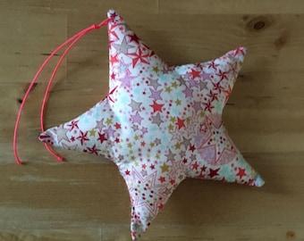 Decorative star in Liberty Adelajda coral