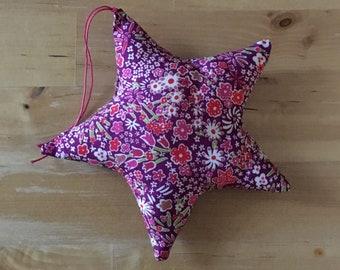 Decorative star in Liberty Kayoko Rose