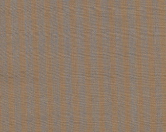 English brown and grey striped fabric