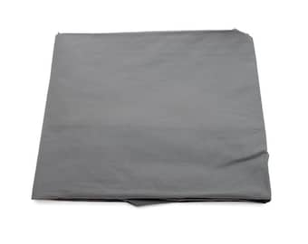 Plain baby pure carbon grey cotton fitted sheet