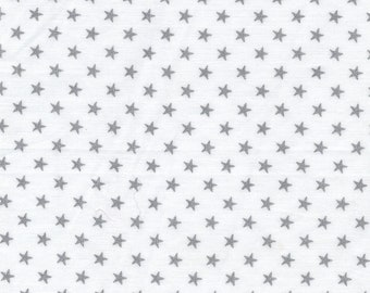 White batist and silver stars France Duval Stalla (vintage)