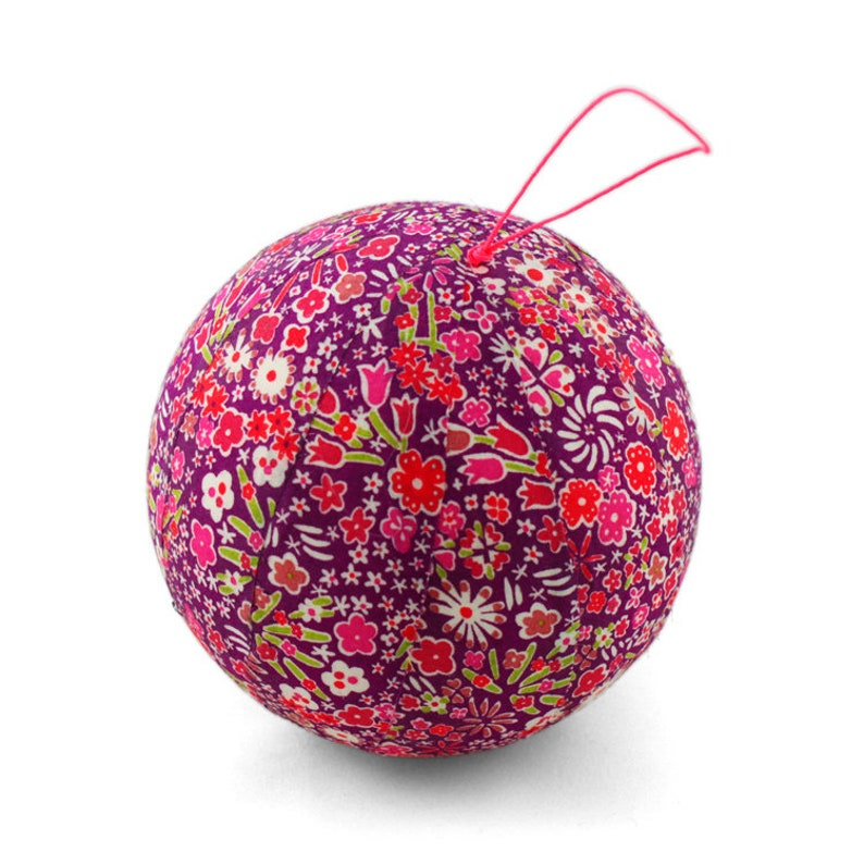 Pink Liberty Kayoko fabric Christmas ball image 0