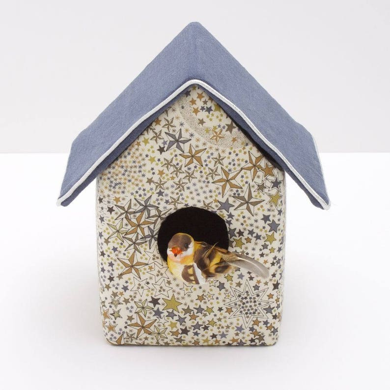 Decorative birdhouse in Liberty Adelajda khaki image 0