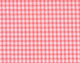 Pink and white vichy small fabric