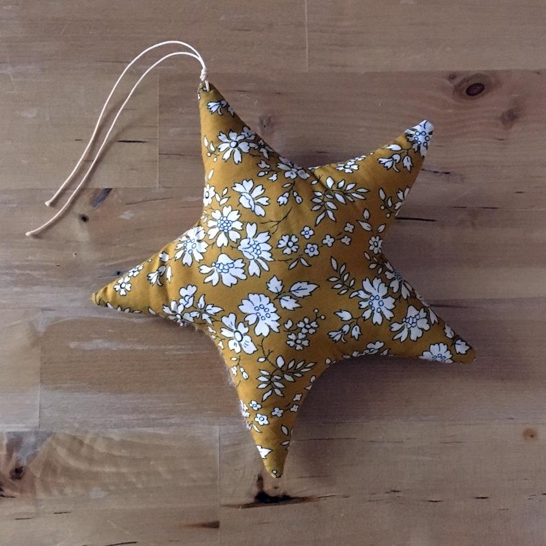 Decorative star in Liberty Capel mustard image 0