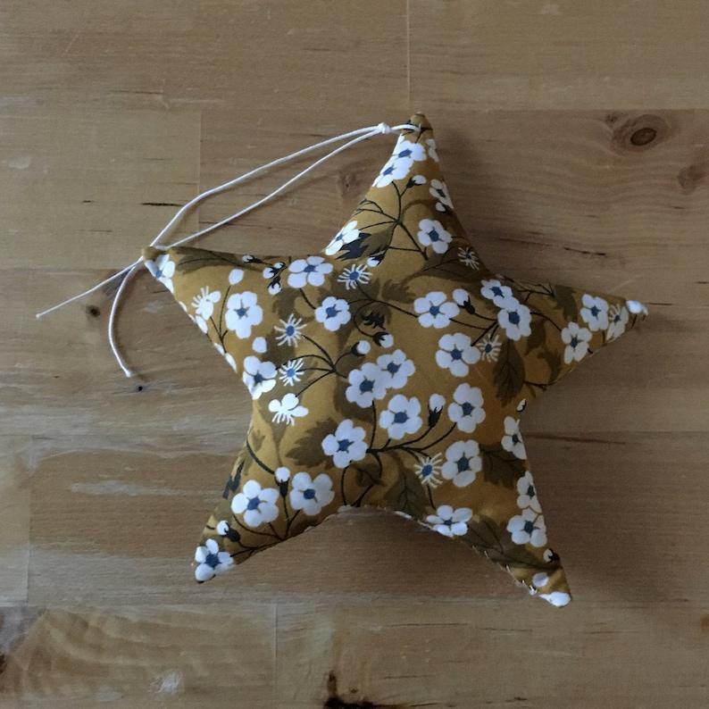 Decorative star in Liberty Mitsi mustard image 0