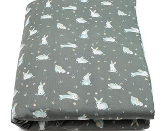 Quilt padded cotton baby bunnies