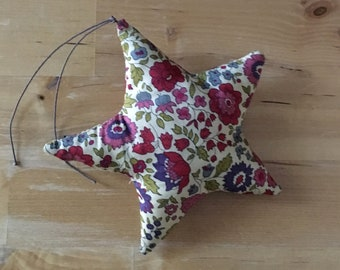 Decorative star or in Liberty of Anjo burgundy