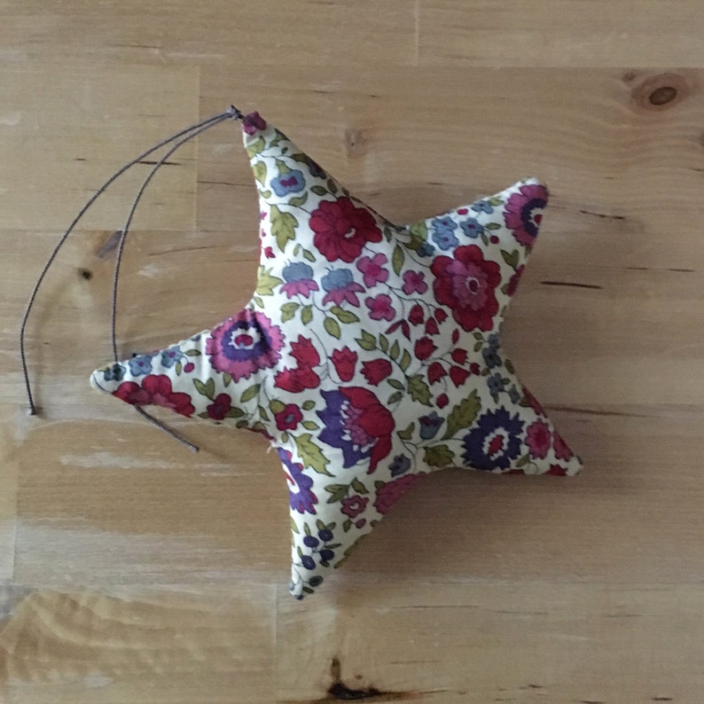 Decorative star in Liberty of Anjo burgundy image 0