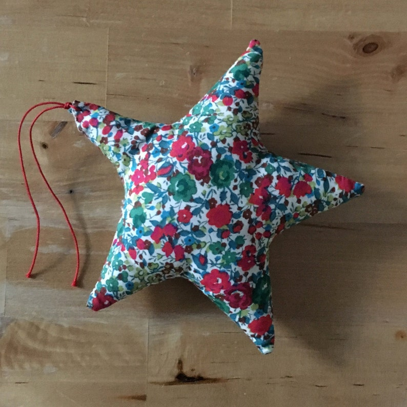 Decorative star in Liberty Emma and Georgina Green image 0