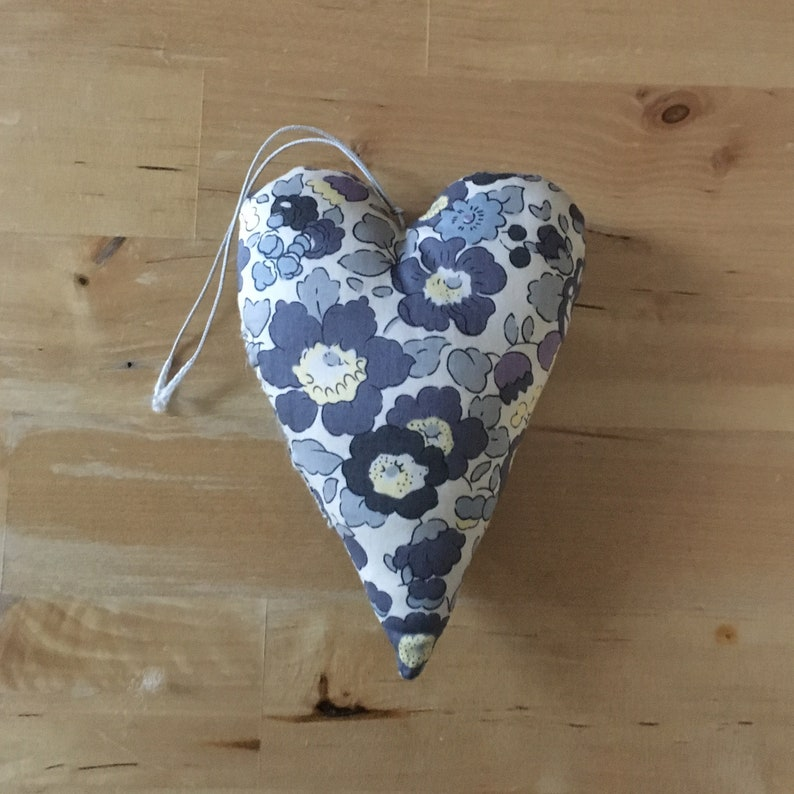 Liberty Betsy pebble fabric decorative heart image 0