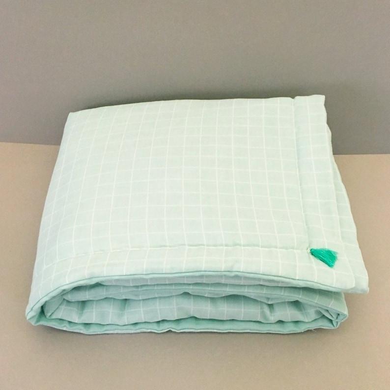 Quilt fabric cloth diaper organic sea green color image 0