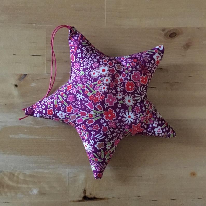 Decorative star in Liberty Kayoko Rose image 0