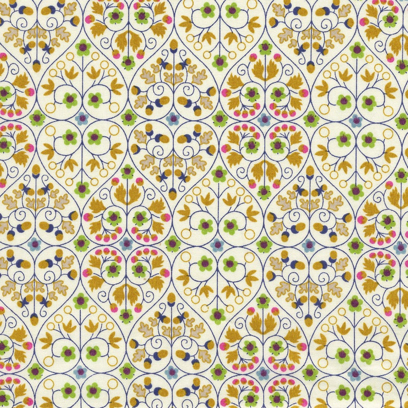 Mustard fabric Liberty Christine coupon image 0