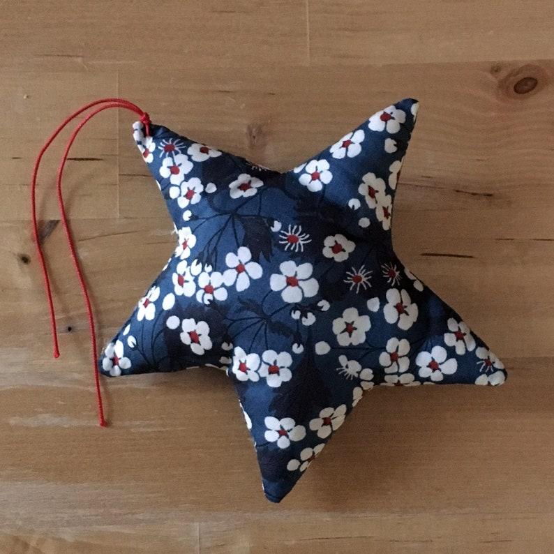 Decorative star in blue Liberty Mitsi image 0