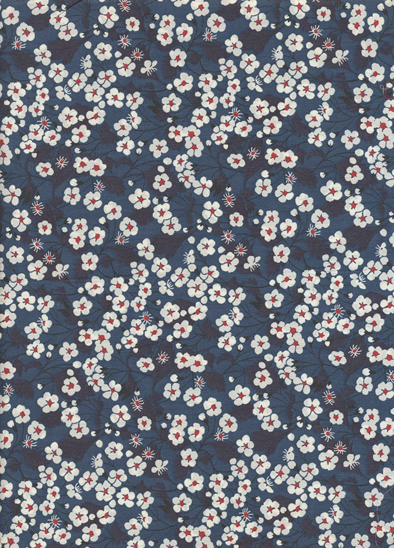 Blue Liberty of London Mitsi fabric coupon image 0