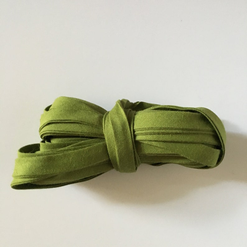 MOSS green plain cotton bias