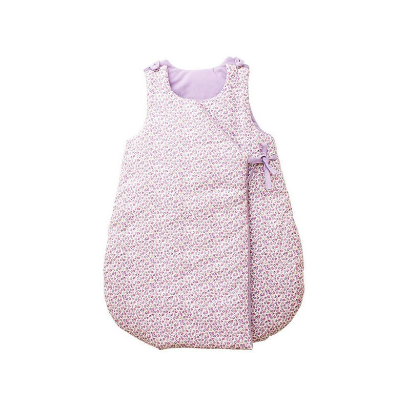 Sleeping bag  Printed cotton with small purple flowers to image 0
