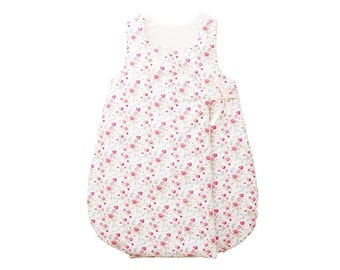 Sleeping bag - Printed cotton with small bouquets of roses in natural