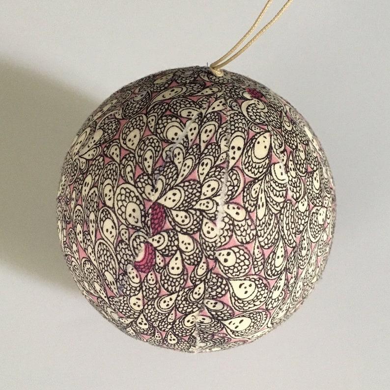 Liberty fabric Christmas ball image 0