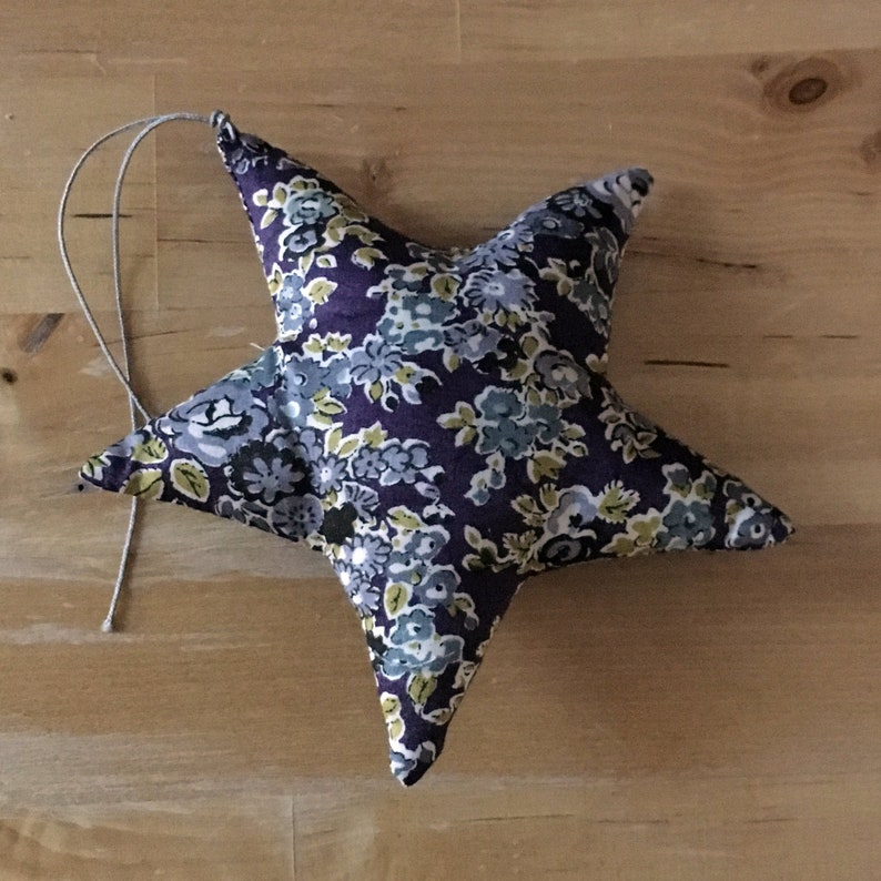 Decorative star in Liberty Tatum plum image 0