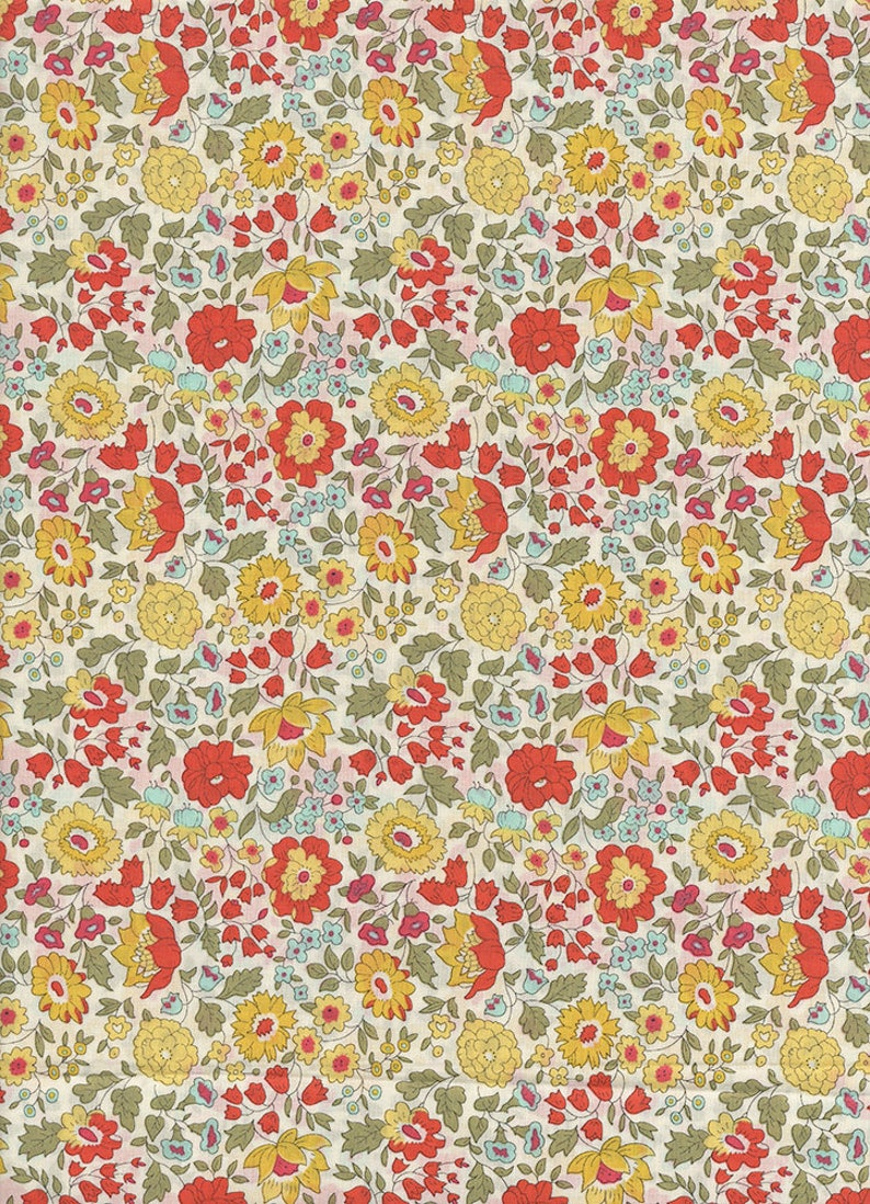 Yellow fabric Liberty of London from Anjo coupon image 0