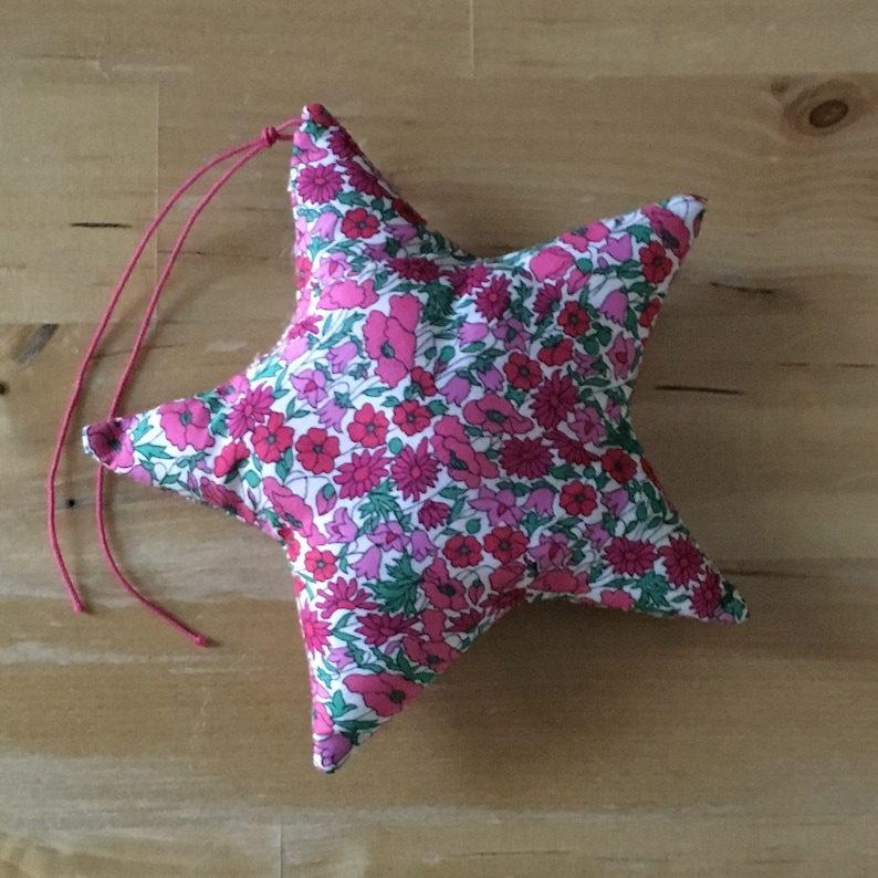 Decorative star in Liberty Petal and strawberry bud image 0