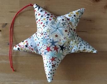 Decorative star or in Liberty Adelajda multico