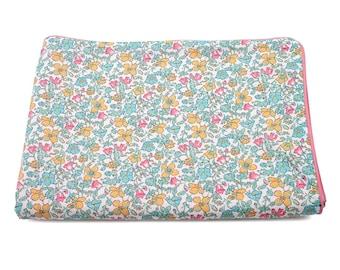 Pastel Liberty Meadow baby blanket