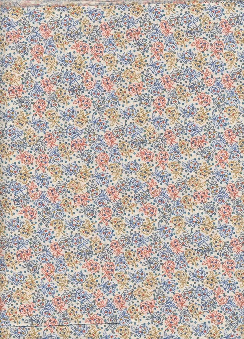 Blue fabric Liberty of London Darcie coupon image 0
