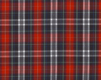 Red and black Scottish cotton fabric