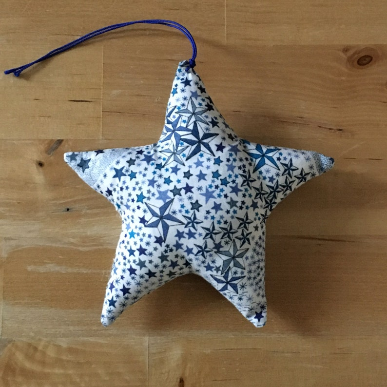 Decorative star in Liberty Adelajda blue image 0