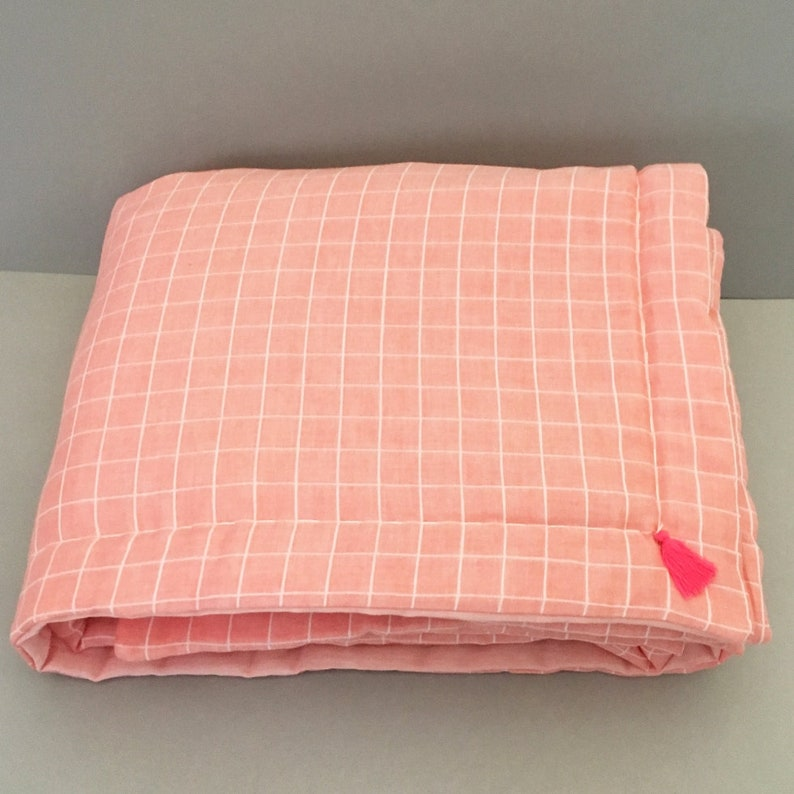 Quilt fabric cloth diaper organic coral color image 0