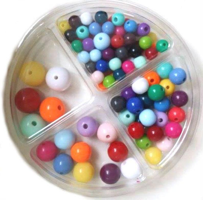 RICO Plastic Bead Set 97-piece Colorful Mix image 0