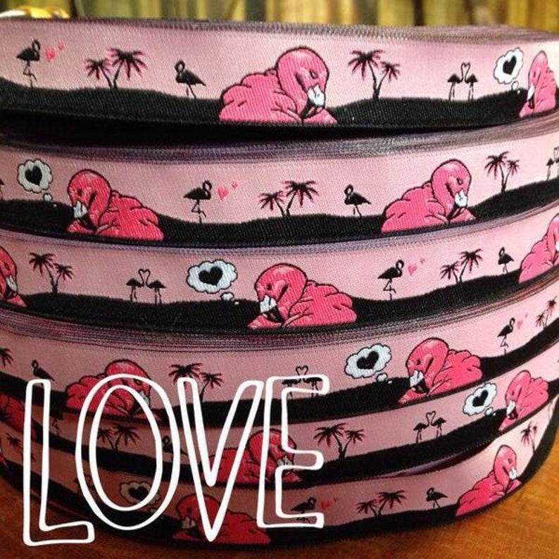 1 m Webband LOVE with Flamingo image 0